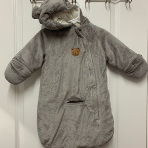 Carter's hooded car seat covering baby snowsuit